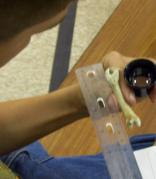 Student using a Private Eye Jeweler's Loupe in Afterschool Programming